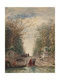 Venise, l'entrée du jardin français Giclee Print by Félix Ziem