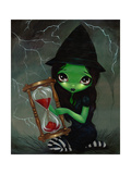 Wicked Witch and Her Hourglass Photographic Print by Jasmine Becket-Griffith