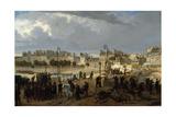 Scène d'émeute au pont de l'Archevêché (Révolution de 1848) Giclee Print by Philippe Chaperon