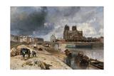 Notre-Dame vue du quai de la Tournelle Giclee Print by Johan-Barthold Jongkind