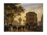 Le théâtre de l'Ambigu Comique et le boulevard Saint-Martin Giclee Print by Giuseppe Canella