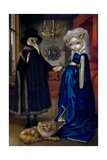 Alice in a Van Eyck Portrait Photographic Print by Jasmine Becket-Griffith