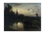 Clair de lune à Overschie Giclee Print by Johan Barthold Jongkind
