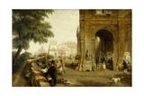 Le quai Conti, 1846 Giclee Print by William Parrott