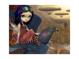Poes Flight Photographic Print by Jasmine Becket-Griffith