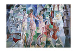 La ville de Paris Giclee Print by Robert Delaunay