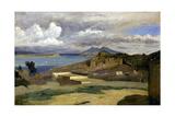 Ischia. Vue prise des pentes du mont Epomeo, au fond: Capri et le Vésuve Giclee Print by Jean-Baptiste-Camille Corot