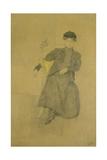 La Jeune fille de Munich Gicleetryck av Jules Pascin