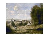 Entrée de village vers 1870-1872 Giclee Print by Jean Baptiste Camille Corot