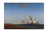 Rentrée des pêcheurs à Martigues Giclee Print by Ziem Félix