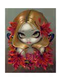 Red Maple Fairy Photographic Print by Jasmine Becket-Griffith
