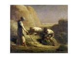 Les botteleurs de foin Giclee Print by Jean-François Millet