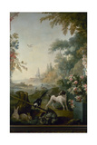 Paysage au chien Giclee Print by Jean Baptiste