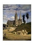 La cathédrale de Chartres Giclee Print by Jean-Baptiste-Camille Corot