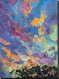 California Sky (top left) Stretched Canvas Print by Erin Hanson