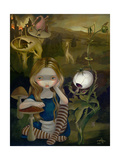 Alice in a Bosch Landscape Photographic Print by Jasmine Becket-Griffith