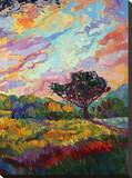 California Sky (bottom right) Stretched Canvas Print by Erin Hanson