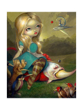 Alice and the Bosch Birds Photographic Print by Jasmine Becket-Griffith