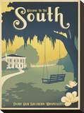 Welcome to the South Impressão em tela esticada por  Anderson Design Group