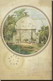 Aviary in a Winter Garden Stretched Canvas Print by Adrien Chancel