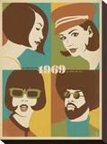 1969, Go with the Flo, Go with The Fro Opspændt lærredstryk af  Anderson Design Group