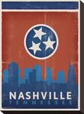 Skyline, Nashville, Tennessee Impressão em tela esticada por  Anderson Design Group