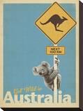 Get Wild in Australia Impressão em tela esticada por  Anderson Design Group