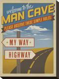Welcome to the Man Cave Reproducción de lámina sobre lienzo por  Anderson Design Group