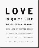Sundae Love Stretched Canvas Print by Clara Wells