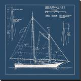 Nautical Blueprint I Stretched Canvas Print