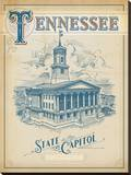 Tennessee State Capitol Stretched Canvas Print by  Anderson Design Group
