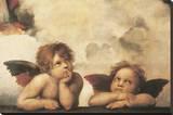 Cherubs Stretched Canvas Print by  Raphael