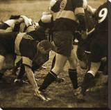 Rugby Game II Stretched Canvas Print by Pete Kelly