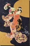 Futatsu Ogi Stretched Canvas Print by Haruyo Morita