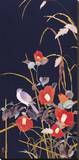 Oriental Wildflowers Stretched Canvas Print by Haruyo Morita