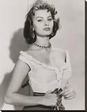 Sophia Loren III Stretched Canvas Print