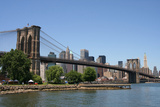 Brooklyn Bridge and Manhattan Skyline on a Clear Blue Day Photographic Print by  Zigi