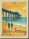 Jersey Shore Stretched Canvas Print by  Anderson Design Group