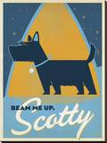 Beam Me Up Scotty Stretched Canvas Print by  Anderson Design Group