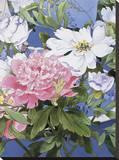 Syakuyaku I Stretched Canvas Print by Haruyo Morita