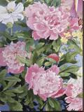 Syakuyaku II Stretched Canvas Print by Haruyo Morita