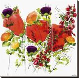 Floral Splendour Stretched Canvas Print by Jean Picton