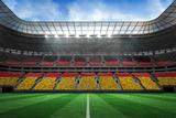 Digitally Generated German National Flag against Large Football Stadium Photographic Print by Wavebreak Media Ltd