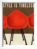 Style is Timeless Midcentury Chairs Art by Lisa Weedn