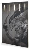 Alien - Head on Tail Panneau en bois