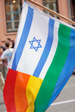 Israel Rainbow Flag Photographic Print by  RDStockPhotos