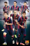 Barcelona - Players 14/15 - Poster