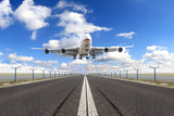 Big Jet Plane Taking off Runway Photographic Print by  Jag_cz