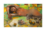 Portrait of Nude Girl , Original Oil Painting on Canvas Posters by  Lilun
