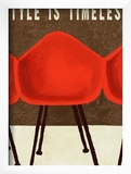 Style is Timeless Midcentury Chairs Posters by Lisa Weedn